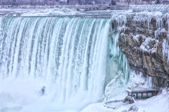 Niagara Falls vinterturister Fotografering för Bildbyråer
