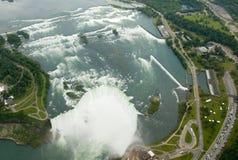 Niagara Falls von der Luft Lizenzfreies Stockbild