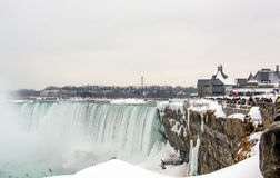 Niagara Falls in winter, Canadian Falls Royalty Free Stock Photo