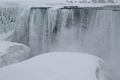 Niagara Falls, in the winter stock photos