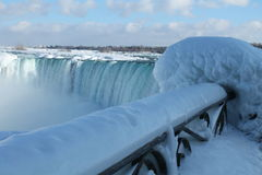 Niagara Falls in the winter. 27 February 2015, on a sunny day, Ontario, Canada Stock Images