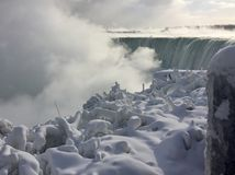 Niagara Falls in winter. With ice and snow Stock Images