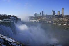 Niagara Falls in winter, New York state, USA Stock Photo