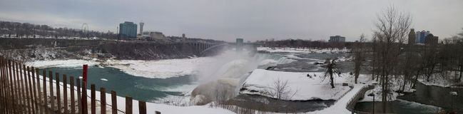 Niagara Falls in winter stock images