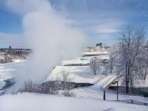 Niagara Falls in winter royalty free stock image