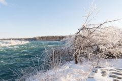 Niagara Falls in Winter with snow and ice Royalty Free Stock Photos