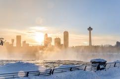 Niagara Falls in winter,USA Stock Image