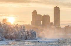 Niagara Falls in winter,USA Royalty Free Stock Photography