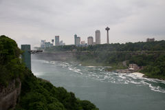 Niagara- Fallskanadier-Seite Stockfotos