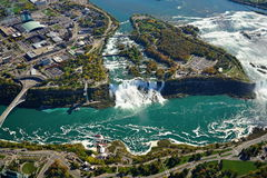 Niagara- FallsLuftaufnahme stockfoto