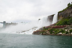Niagara- Fallsnahaufnahme Stockbild