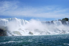 Niagara- Fallsnebel in New York, USA lizenzfreie stockfotos