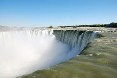 Niagara- Fallsrecht am edg Lizenzfreie Stockfotos