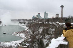 Niagara- Fallstourist Stockbilder