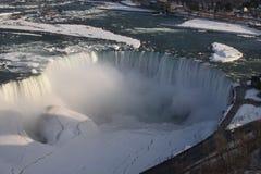 Niagara- Fallswinter Stockfoto