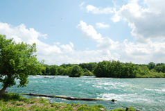 Niagara-Fluss lizenzfreie stockfotografie