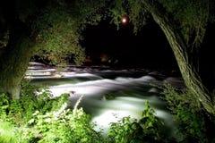 Niagara-Fluss nachts stockbilder