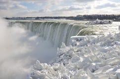 Niagara frozen falls stock photography