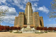 Niagara fyrkant - buffel, New York royaltyfri fotografi