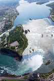 Niagara Horseshoe Fall. Above view from Helicopter Royalty Free Stock Image