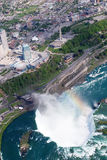 Niagara Horseshoe Fall. Above view from Helicopter Stock Photo