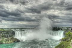 Niagara Horseshoe Falls. With impending storm and dark clouds overhead Royalty Free Stock Image