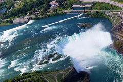 Niagara Horseshoe Falls. Above view from Helicopter Stock Image