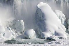 Niagara im Winter Einfrierender sonniger Tag Lizenzfreie Stockfotos