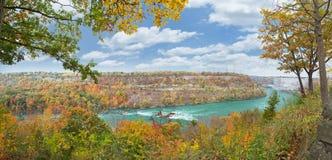 Niagara klyfta Niagara Falls NY Arkivbild