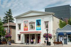 Niagara on the lake theatre and street stock photo