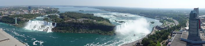 Niagara nedgångutsikt arkivbilder