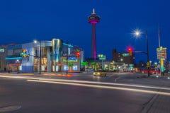 Niagara nocy scena Zdjęcia Stock