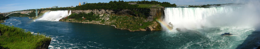 Niagara panoramiczny spada Obrazy Royalty Free