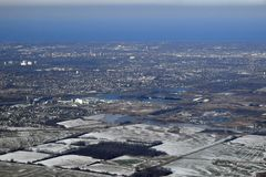 Niagara Peninsula aerial stock photo