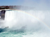 Niagara Rainbow and American Falls 2003 Royalty Free Stock Photos
