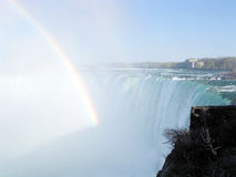 Niagara Rainbow and Canadian Falls 2003 Stock Images