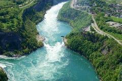 Niagara River. Above view of Niagara River from the sky Stock Photos