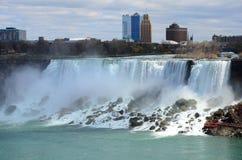 The Niagara River and american falls Stock Photo