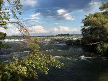 Niagara river. Breathtaking view on Niagara Fall Royalty Free Stock Photography