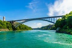 Niagara River efter Niagara Falls Royaltyfria Foton