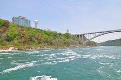 The Niagara River and falls Royalty Free Stock Image