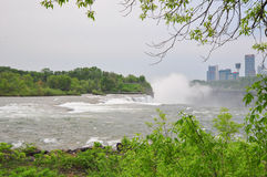 The Niagara River and falls Royalty Free Stock Photography