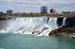 The Niagara River and  falls Royalty Free Stock Images