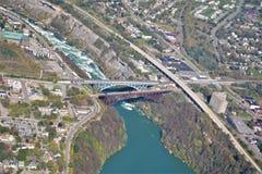 Niagara River Kanada USA gräns fotografering för bildbyråer