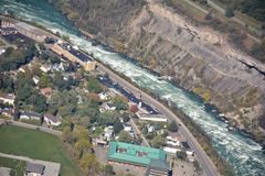 Niagara River Kanada USA gräns royaltyfri foto