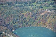 Niagara River Kanada USA gräns royaltyfri bild