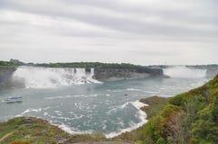 The Niagara River and niagara falls Royalty Free Stock Photo