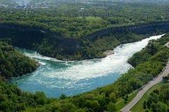 Niagara River. Sky view of Niagara River Royalty Free Stock Photos