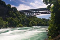 Niagara River at Whirlpool Bridge in Canada Stock Images