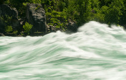 Niagara River at White Water Walk in Canada Royalty Free Stock Images